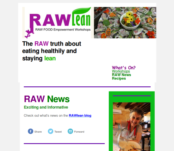 RAWlean Newsletter 2014-11 screenshot